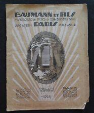 Catalogue BAUMANN Manufacture de stores en bois 1928 Paris Melun catalog