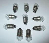 Glühbirne E10  für Krippen-, Puppenhauslampen  -12 Volt-  10 Stück  NEU