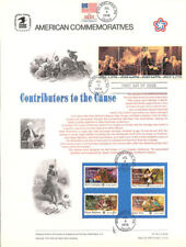 #46 8c-18c Contributors the Cause #1559-1562 USPS Stamp Panel w/July 4, 1976