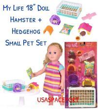 "10-piece 18"" Doll HAMSTER +HEDGEHOG Set for My Life as American Girl Boy Pet Vet"