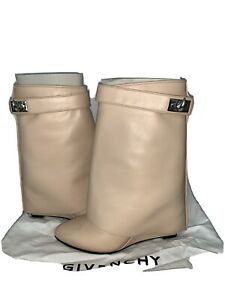 givenchy shark lock boots Size 5 Nude Authentic