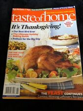 Taste Of Home Cookbook Thanksgiving Recipes November 2011 Holiday Baking Guide