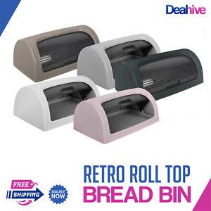 Dunya Retro Bread Bin Roll Top Food Storage Loaf Container Box Plastic BPA Free