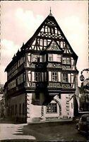 Miltenberg am Main s/w Postkarte 1962 Straßenpartie am Hotel Riesen Fachwerkhaus