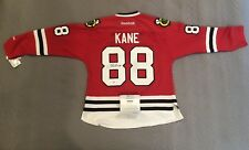Patrick Kane Frameworth Exclusive COA Signed Red Home Reebok Premier Jersey