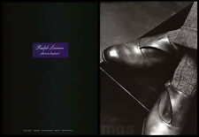 Ralph Lauren Shoes 2-page print ad Oct 2000 Men's Fashion - Made in England