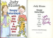 Judy Blume SIGNED AUTOGRAPHED Soupy Saturdays with the Pain HC 1st Ed 1st Print