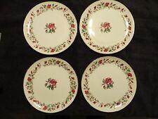 "Moss Rose by Diamond China  Vintage Stunning Set of 4 Dinner Plates 9 1/4"" EC"