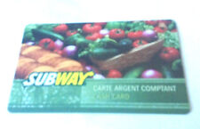 SUBWAY CASH CARD VEGETABLE GIFT CARD RECHARGEABLE ----0----BALANCE BILINGUAL