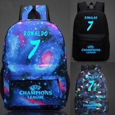 Football Backpack School Bag CR7 Cristiano Ronaldo Juventus F.C.Canvas Bag Boys