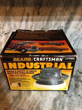 11 In Heavy Duty Sears Craftsman Buffer Polisher Model 927098 SUPER RARE VINTAGE