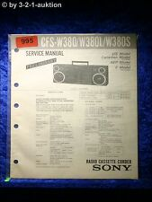 Sony Service Manual CFS W380 / W380L / W380S Cassette Recorder (#0995)