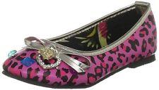 Iron Fist Enfants Bébé (UK 6) Fraise lèvres rose bling plat chaussures escarpins