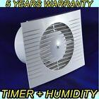 Dospel 100mm Extractor Fan Timer Humidity Sensor