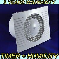 100mm Bathroom, Kitchen, Toilet Wet Room Extractor Silent Fan  Timer + Humidity