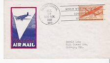 TWIN MOTOR TRANSPORT 50C AIR MAIL #C31 SAINT LOUIS, MO OCTOBER 29, 1941 IOOR