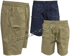 Mens Plain Casual Summer Elasticated Walking Action Shorts M - 5XL By Tom Hagan