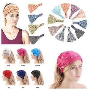 Wide headband elastic bandana turban hair band ladies.    08