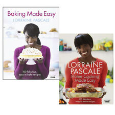 Lorraine Pascale 2 Books Collection Set Baking Made Easy Home Cooking Made Easy
