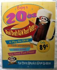 Original 1994 A&W Restaurant 75th Anniversary, Real Draft Root Beer Dealer Sign