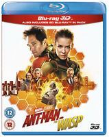 ANT-MAN AND THE WASP 3D [Blu-ray 3D + 2D] Marvel Movie Antman 2 Paul Rudd