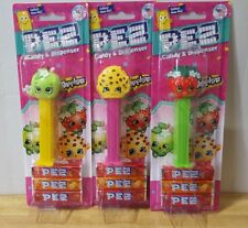 2018 New Shopkins Pez ~ Set of 3 ~ Apple Blossom, Strawberry Kiss, Kookie Cookie