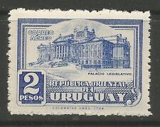 URUGUAY. 1945. Legislative Palace 2 Peso Air. SG: 900. Mint Never Hinged.