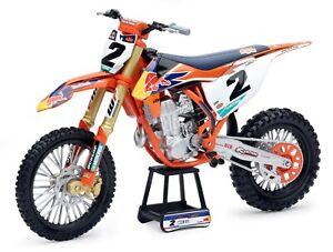 New Ray 1:10 Cooper Webb Red Bull KTM SXF 450 Toy Model Motocross motorbike