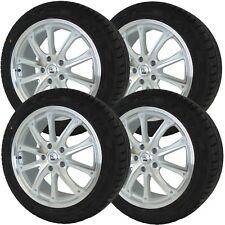 "White Polished Alloy Wheels Tyres 5x112 18"" 2254018 Audi Skoda Seat Volkswagen"