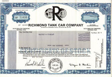 Richmond Tank Car Company 1982 Stock Certificate