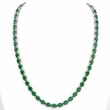 Nice 16 inches Natural Emerald Tennis Necklace