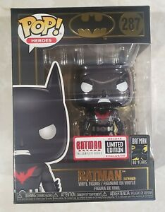 Funko Pop Chrome Batman Beyond Limited Edition Deluxe Exclusive #287 RARE Vaulte