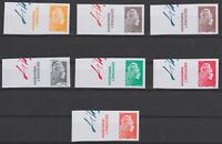 France 2018 Marianne l'Engagée Salon d'Automne série 7 timbres non dentelé BDF