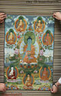 "36"" Tibet Buddhism Silk Cloth Shakyamuni Thangka Sakyamuni Buddha Painting Mural"