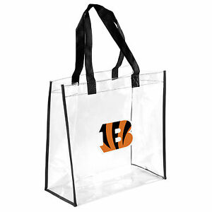 Cincinnati Bengals Clear Reusable Plastic Tote Bag NFL 2019 Stadium Approved