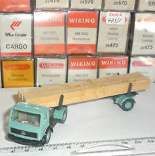 WIKING 390 SEMI TRAILER CAMION MERCEDES BENZ TRANSPORTE MADERA ECHELLE 1:87 HO