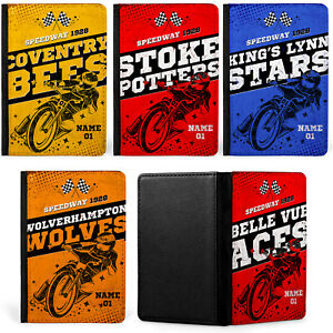 Personalised Speedway Passport Case Retro Travel ID Holder Motorbike Racing Gift