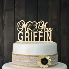 Wedding Cake Topper Mr and Mrs cake Topper Design Personalized with Last Name