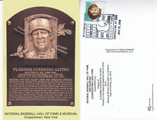 Vladimir Guerrerro 2018 Hall of Fame Program/Induction Postcard stamped
