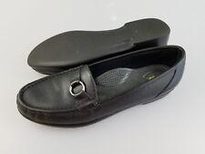 SAS Tripad Black Leather Slip On Loafers Comfort Shoes Women's US 9 S Slim AAA