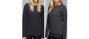 Lululemon Reversible Black Long Sleeve Sweater Pullover Top Size 4 Sweatshirt