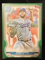 2020 Topps Gypsy Queen Green #21 Clayton Kershaw Los Angeles Dodgers