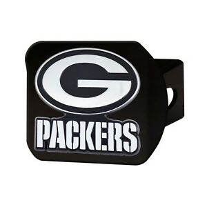 Fanmats NFL Green Bay Packers 3D Chrome on Black Metal Hitch Cover Del. 2-4 Days