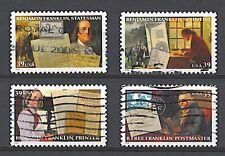 Scott #4021-24 Used Set of 4, Benjamin Franklin