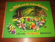 (E773) KINDERBUCH DER WOLF UND DIE SIEBEN GEISSLEIN DOLFI VORT TITANIA UM 1960