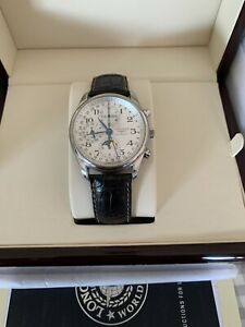 LONGINES MASTER COLLECTION MENS WATCH L2.673.4.78.3 CHRONOGRAPH & MOON PHASE.