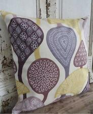 'TRIBAL' Retro Mustard, Grey, Brown, Ivory Suede Look Cushion Cover 45cm
