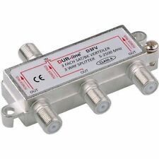 DUR-line D3FV SAT & BK-Verteiler 3-fach Splitter | DC-Durchlass, Unicable-taugl