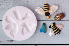 Silicone Mould, Insects, Fly, Cicada, Bees, Honey Bee, Ellam Sugarcraft  M203