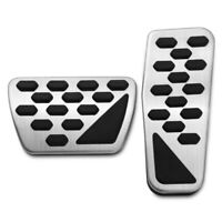 Gas And Brake Pedal Cover Auto Stainless Steel Foot Pedal Pad Kit For 2018-L3L2